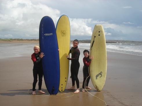 Making Waves Wales surf sessions for disadvantaged groups